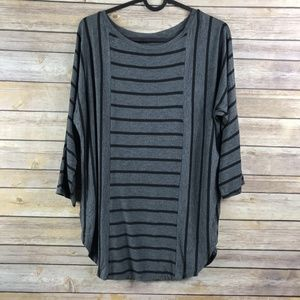 LOFT Ann Taylor Striped 3/4 Sleeve Blouse (AA10)